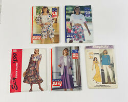 Simplicity Butterick See And Sew Sewing Patterns Short Sets Skirts Jackets Career