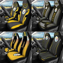Pittsburgh Steelers 2-seats Car Seat Cover Pick-up Truck Front Cushion Protector