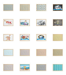 Ambesonne Cartoon Nursery Wall Art with Wide Frame for Bathrooms Living Room