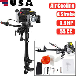 Pro 4 Stroke 3.6 Hp 55cc Outboard Motor Boat Engine Air Cooling Cooled System Us