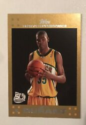 2007 Topps Rookie Card Kevin Durant Gold /2007 Rc 112