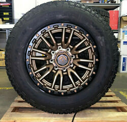 20x9 Fuel D681 Rebel Bronze Wheels 34 Goodyear Tires 8x170 Ford F250 Excursion