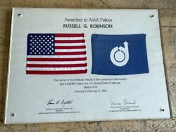 1984 Nasa Us Space Shuttle Challenger Mission Mission 41-b Flown American Flag