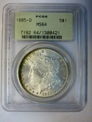 1885-o Morgan Silver Dollar Pcgs Ms64 Old Green Label Holder Free Shipping