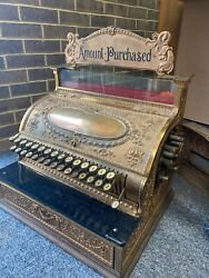 Antique Brass National Cash Register - Serial 480997 Good Condition 116 Years