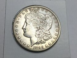 1893-cc Morgan Dollar In Extremely Fine- Super Nice