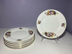 Clarence Bone China - Made In England - 8 Piece Floral Lunch Plate Set 8