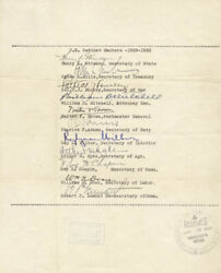 Roy D. Chapin - Autograph Circa 1933 With Co-signers