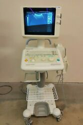 Toshiba Capasee Ii Ssa-220a Ultrasound 2 Probes Transducers Cart Inv 5883