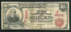 1902 10 The First National Bank Of Avoca, Pa National Currency Ch.8494 Unique