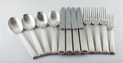 Christofle Triade Silverplate Flatware 12 Pieces Discontinued Pattern