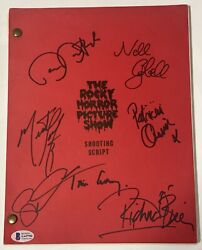 Tim Curry And Cast Signed Autographed Script The Rocky Horror Picture Show