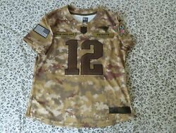 Tom Brady New England Patriots Nike Salute To The Troops Jersey 2018 L Drifit