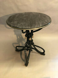 Exquisitely Carved Beechwood Round Side Table