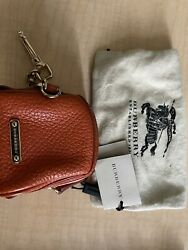 BURBERRY bag coin purse wallet keychain leather $97.67