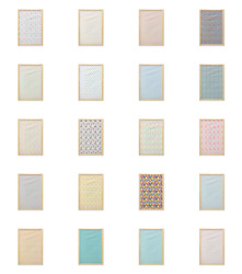 Ambesonne Pastel Design Wall Art With Frame For Bathrooms Living Room Dorms
