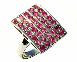 925 Sterling Silver Natural Ruby Gem Stones Rings Men's Jewelery Size 9