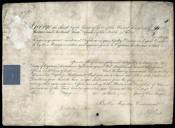 King George Iii Great Britain - Military Appointment Signed 09/26/1801 With Co