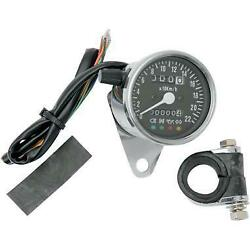 Brand New Drag Specialties Mini Mechanical Speedometer With Led Indicators
