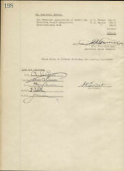 Thomas A. Edison - Corporate Minutes Signed 01/27/1926 With Co-signers