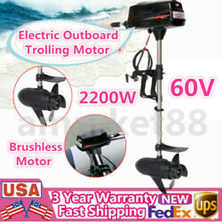 Hangkai 60v Electric Outboard Trolling Motor Dinghy Inflatable Boat Engine 2.2kw