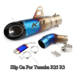 Slip On For Yamaha Yzf R3 R25 Mt03 Motorcycle Exhaust Tip Muffler Mid Link Pipe