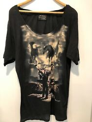 Torn by Ronny Hobo for The Mountain Black Graphic Tee Size M $25.00