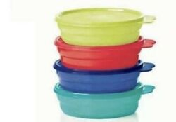 Tupperware Impressions 2 Cup Microwavable Cereal Bowls New Non Bpa
