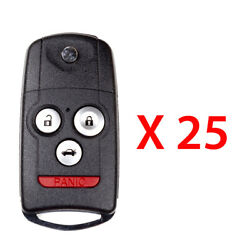 New Replacement For Acura 2007-2013 Remote Flip Key 4b N5f0602a1a 25 Pack