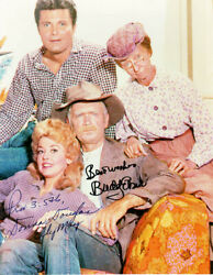 Beverly Hillbillies Tv Cast - Autographed Signed Photograph With Co-signers