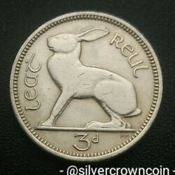Ireland, Eire 3 Pence 1962. Km12a. Three Cents Coin. Hare. Rabbit. Animals. H