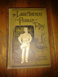 1886 Knights Of Labor Book On Workers' Movement. First Ed'n In Beautiful Binding