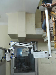 5 Step Ceiling Mount Dental Microscope-with Beam Splitterccd Cameraled Monitor