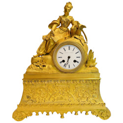 19th Century Leroy A. Paris French Ormolu Bronze Chinoiserie Clock With Chinese