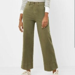 Nwt Loft Womenand039s High Rise Wide Leg Jeans - Vintage Olive - Size 32