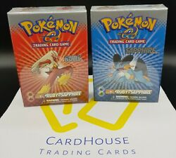 Pokandeacutemon Ex Ruby And Sapphire Theme Deck Blaziken And Swampert Factory Sealed