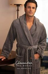 Alexander Del Rossa Menand039s Warm Flannel Fleece Robe With Hood Big And Tall Bathr