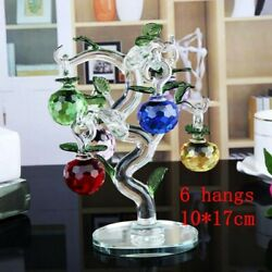 Lucky Crystal Apple Tree Ornament Glass Crafts Home Decor Figurines