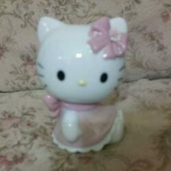 Lladró Nao Hello Kitty Collaboration Pottery Figurine Cute From Japan Nm