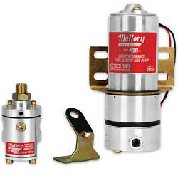 Mallory High Pressure Electric Fuel Pump Model 140 W/mounting Hardware 4-12-psi