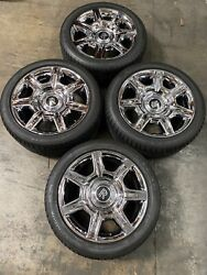 Oem Rolls Royce Ghost Chrome Wheels W/ Tires 6773353/6773354 Caps Not Included