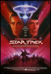 Star Trek 5 The Final- Poster A0-a4 Film Movie Picture Art Wall Decor Actor