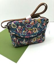 Sakroots Pacifica Mini Crossbody Canvas Enchanted Forest Teal Vegan New NWT $37.95