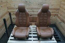 Set Of Front Rear Left Right Seat Cuoio Leather Ferrari California 08-17 Note