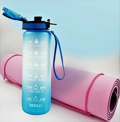 50 Pcs Water Bottle With Time Marker, 32 Oz Capacity, Bpa Free