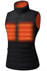 Venustas Womenand039s Heated Vest With Battery Pack 5v Ykk Zippers And Waterandwind Re