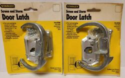 2 Total New Stanley Hardware Cd1280 Screen And Storm Door Latch 74-5705 Vtg Usa