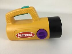 Playskool Flashlight White Green Red Lens Change Colors Tested Vintage 1980s Toy