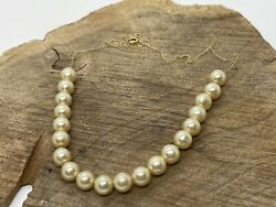10k Yellow Gold Authentic Add A Bead Pearl Necklace 16andrdquo