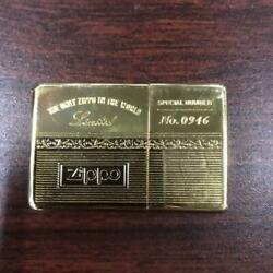 Zippo No.0946 Gold Color Time Tank Pocket Clock Made In U.s